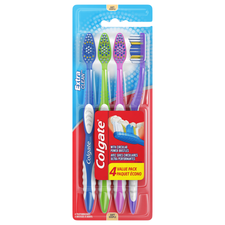 (Pack of 4) Colgate Extra Clean Full Head Toothbrush, Soft