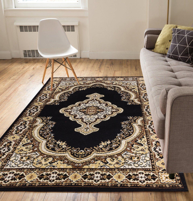 "Well Woven Medallion Black 3'3"" x 5' Area Rug Carpet"