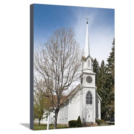 Historic St. Peter's Episcopal Church, Carson City, Nevada, United States of America, North America Stretched Canvas Print Wall Art By Michael