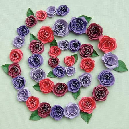Quilling Kit Spiral Roses (Quilling Kit-Spiral Roses-Burgundy/Red/Purples)