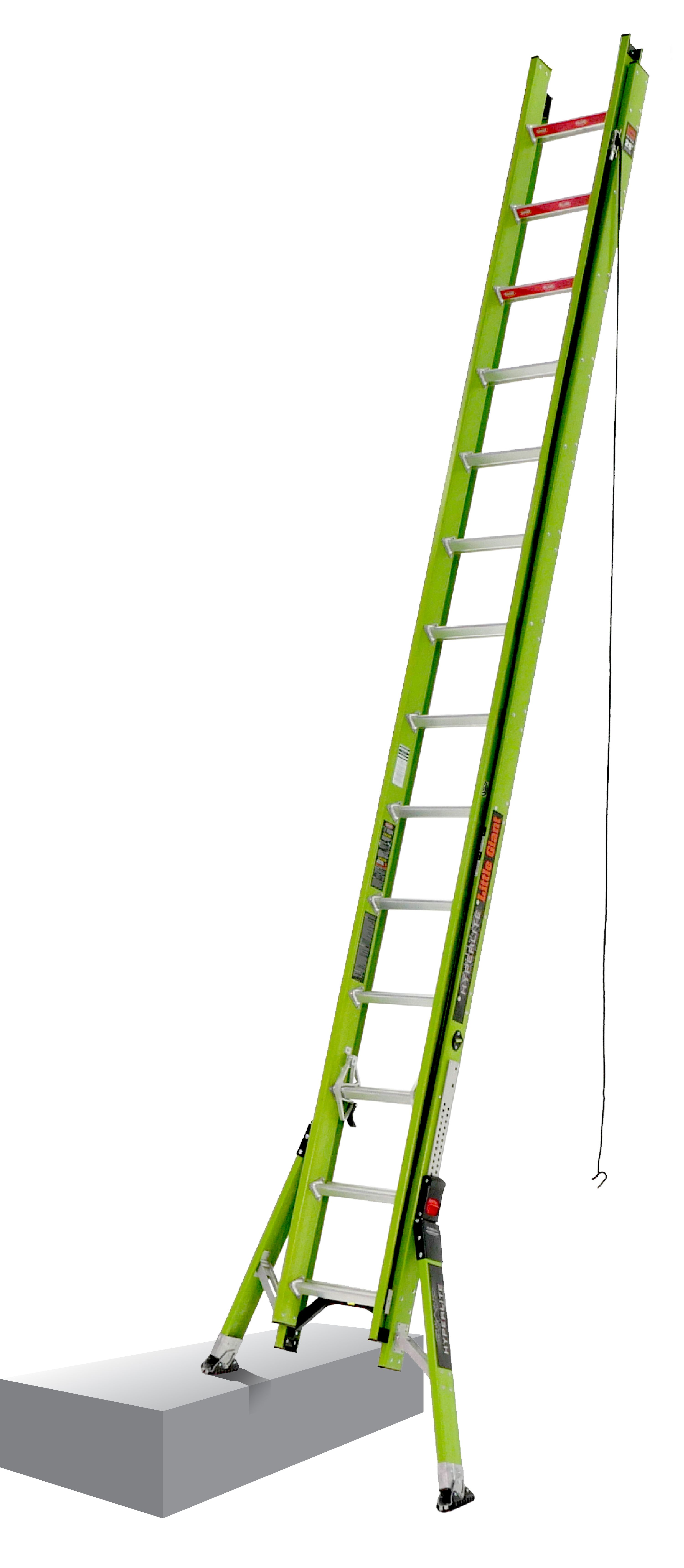 Little Giant HyperLite SumoStance, 28' Type IA 300 lbs rated, fiberglass extension ladder by Wing Enterprises, Inc.