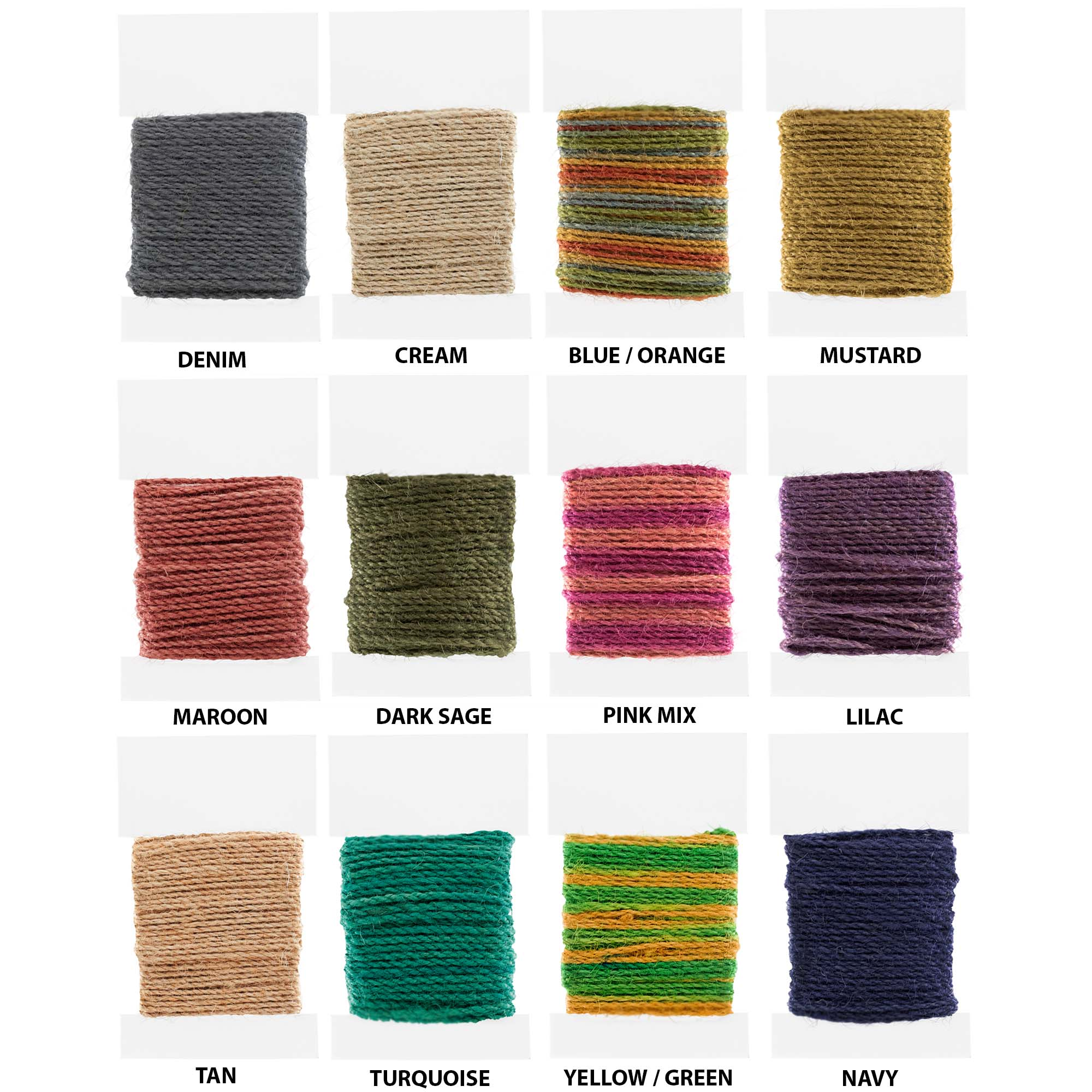 Craft County - 2 mm Jute Cord Packs - 10 Meter Spools - Several Color Options - Available in 5 or 10 Packs