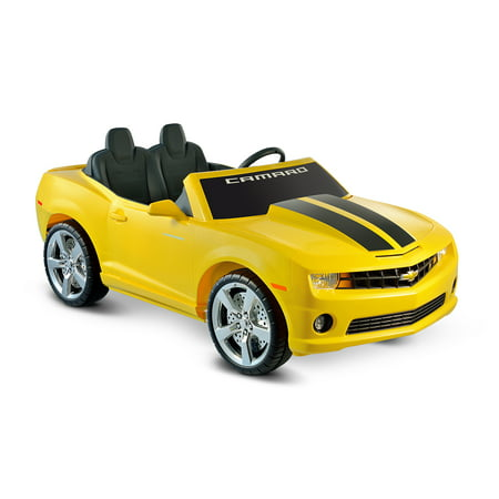 Kid Motorz Chevrolet Camaro 12-Volt Battery-Operated Ride-On, Red with Racing Stripes