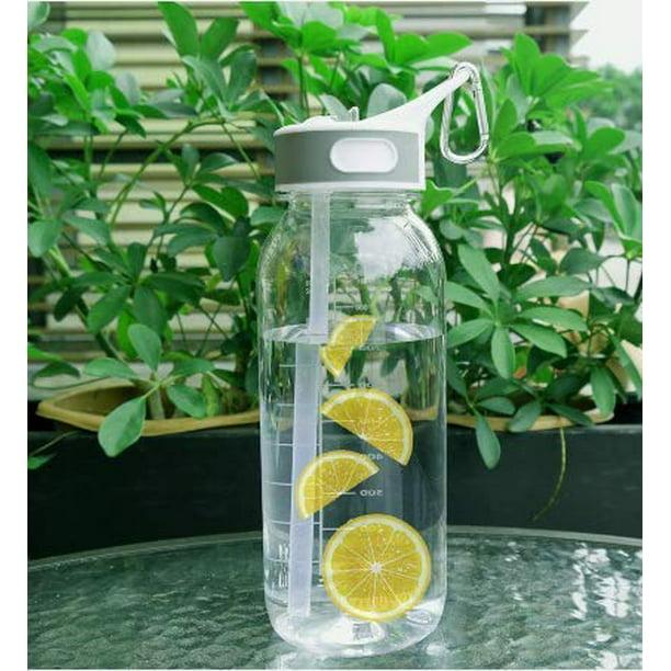 BOTTLED JOY Sports Water Bottle with Straw 1 litre 100/% BPA Free Tritan Eco Measurements 1l Water Bottle with Straw 1ltr Leak proof Water Bottle Portable Sturdy for Girls Boys Adults