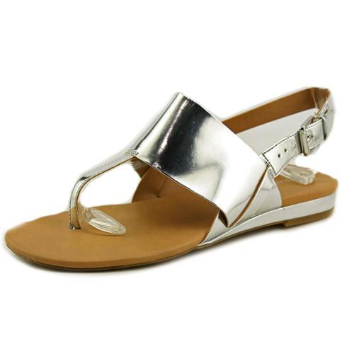 Franco Sarto Gesso Women US 8 Silver Thong Sandal