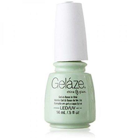 - China Glaze Gelaze 100% Gel-n-Base Polish, Re-Fresh Mint, 0.5 Ounce