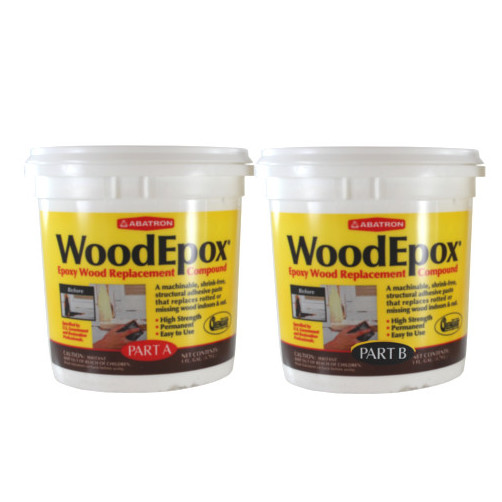 Woodepox 2 gal. Wood Filler with Temp. Range of 50° to 100°F, Beige WE2GKR