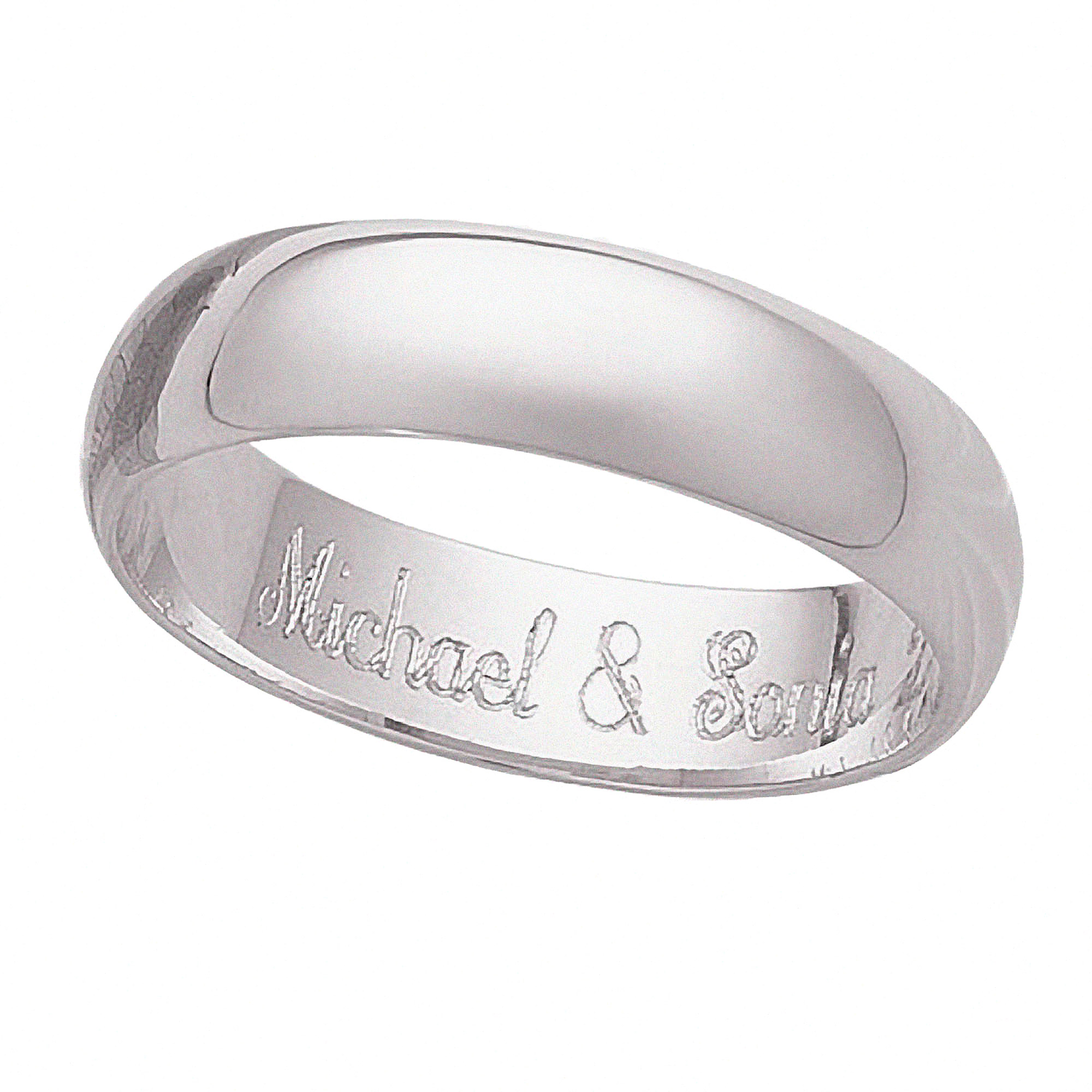 Personalized Sterling Silver Message Ring
