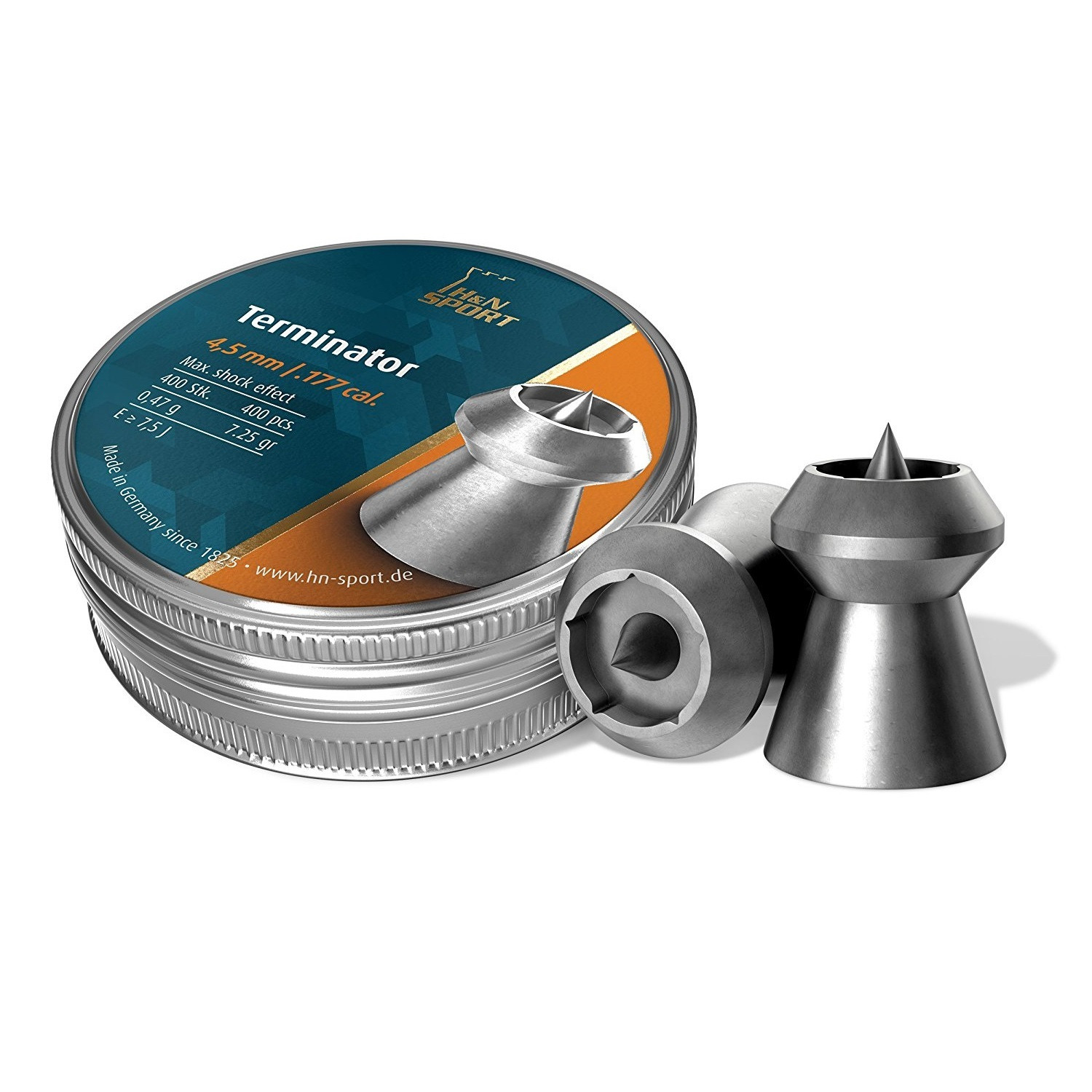 H&N Terminator Hollowpoint Airgun Pellets .177 cal.