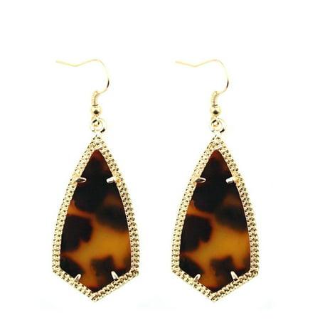 Antique Womens Earring (StylesILove Womens Girls Antique Kite Inspired Design Drop Dangle Arrow Hook Earrings (Gold Leopard))