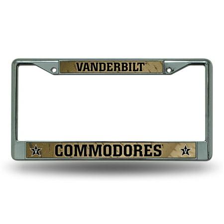 Vanderbilt Commodores Chrome Metal License Plate Frame