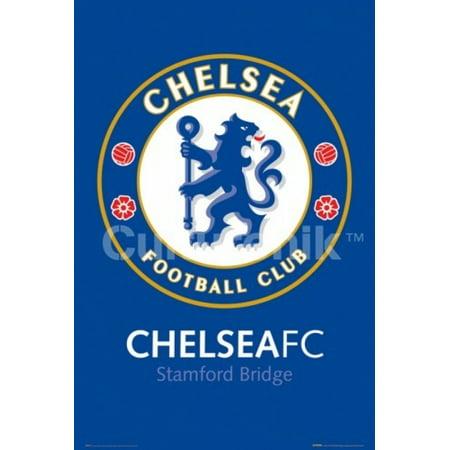 Chelsea Stamford Bridge (Chelsea FC Club Crest - Stamford Bridge Poster Poster Print )