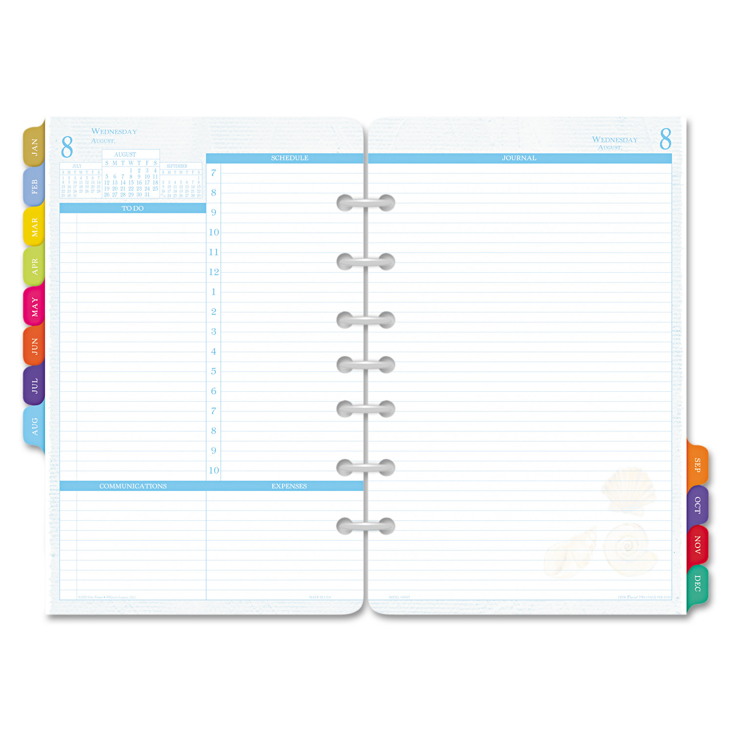 Day Timer Flavia Dated Two-Page-per-Day Organizer Refill,...
