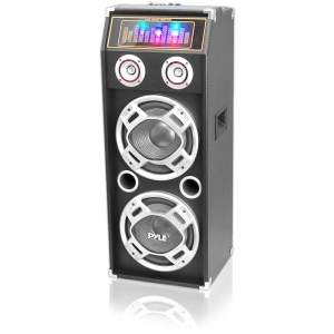 1000 Watt Disco Jam 2-Way Passive DJ Speaker w/ Dual 10-in Subwoofers  Dual Tweeters & Flashing DJ Lights (For Use w/ PSUFM1035A)