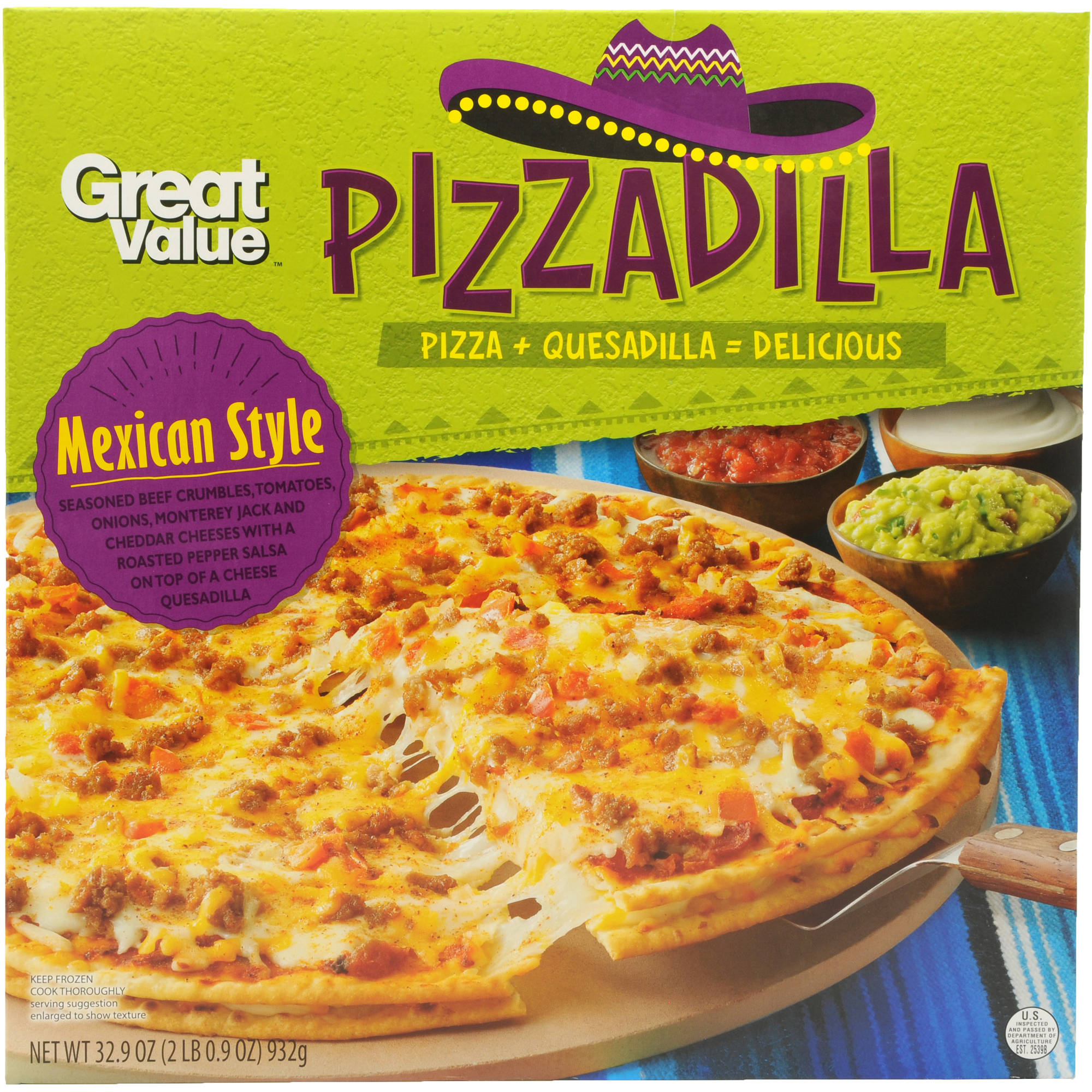 Great Value Mexican Style Pizzadilla, 32.9 oz