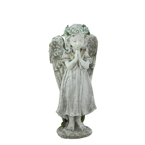 Northlight Seasonal Heavenly Gardens Praying Angel Girl Outdoor Patio Garden Statue by Northlight