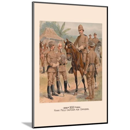 Khaki Field Uniform for Officers Wood Mounted Print Wall Art By H.a. Ogden (Mountie Uniform)