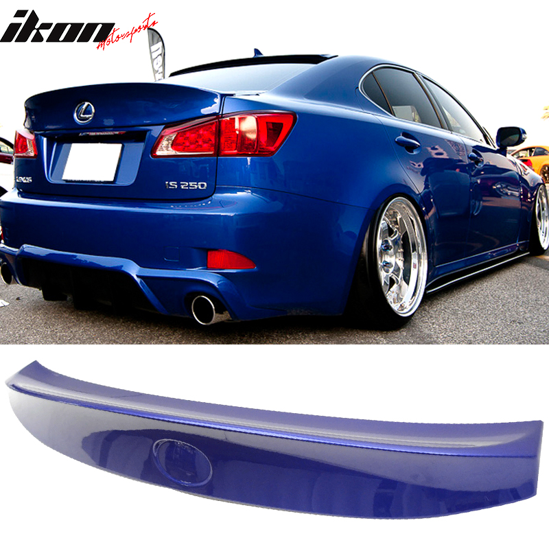 Fits 06-13 Lexus IS250 IS350 ISF Rear IK Style Trunk Lip Wing Spoiler ABS