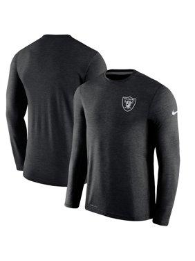 Product Image Oakland Raiders Nike Sideline Coaches Long Sleeve Performance  T-Shirt - Black 9feaa22e6