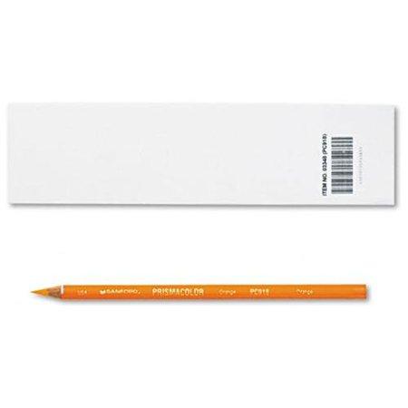 Prismacolor Premier Colored Pencil  Orange Lead Barrel  Dozen   Orange Lead   Orange Barrel Dozen  3348