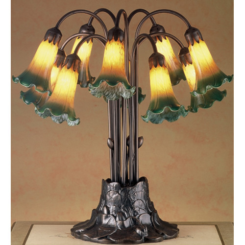 Nice Meyda Tiffany 14357 Stained Glass / Tiffany Table Lamp From The Lilies  Collectio   Walmart.com