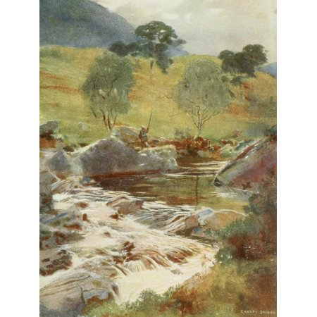 Angling   Art In Scotland 1908 Headwaters Of The Dochart Poster Print By  Ernest Briggs
