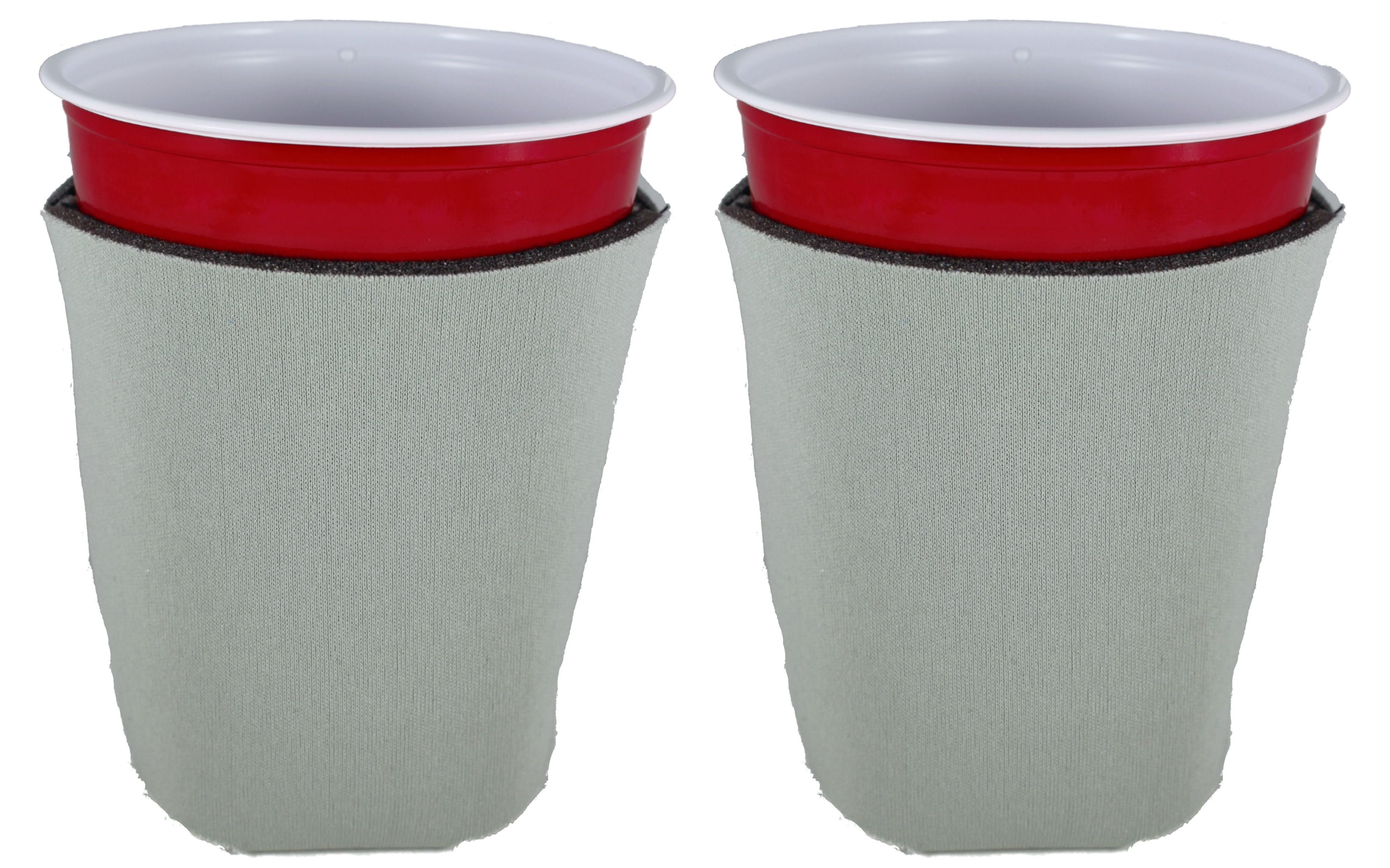 Blank Foam Collapsible Bottom Party Cup Coolie (2, Gray