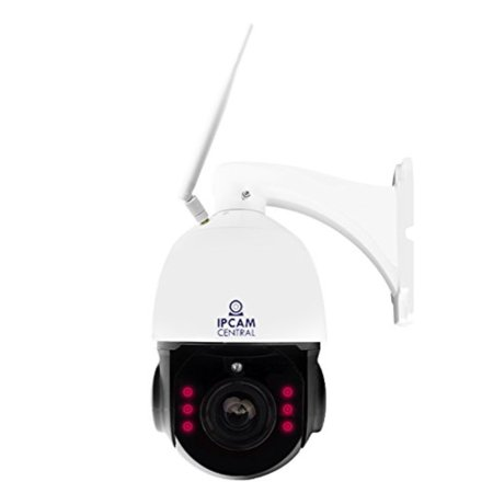 IPCC-7210W HDPro - 4X Optical Zoom, HD 2 0 Mega Pixel, WiFi, Plug and Play,  Outdoor Dome PTZ IP Camera, Nightvision, Audio, ONVIF Compatible with