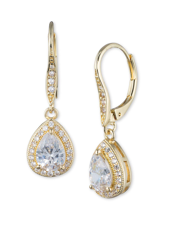 Goldtone Pear Drop Earrings