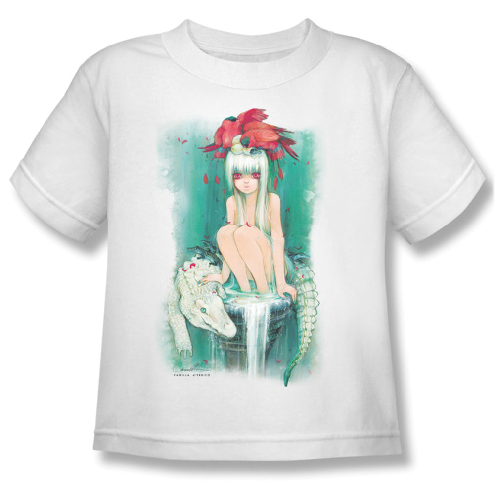 Helmetgirls Boys' The Milk Fountain Childrens T-shirt White
