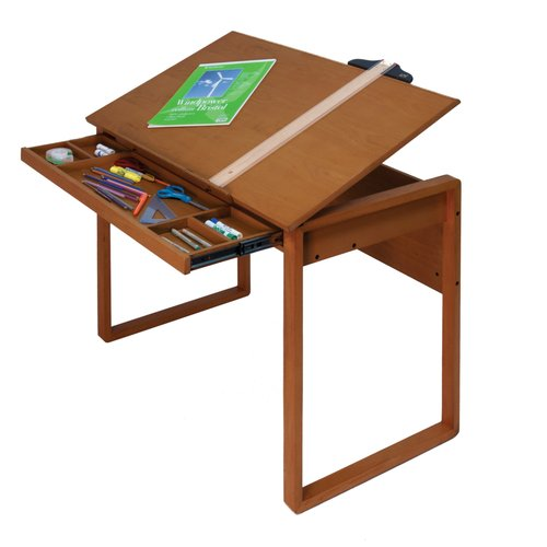 Studio Designs Ponderosa Wood Tilting Top Table/Sonoma Brown
