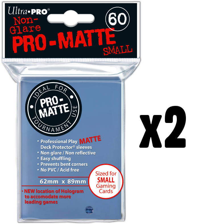 Ultra Pro PRO Matte Clear 60ct Small Sized Sleeves