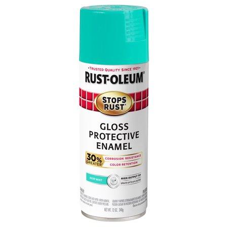 Rust-Oleum Stops Rust Advanced Gloss Deep Mint Protective Enamel Spray Paint, 12 oz