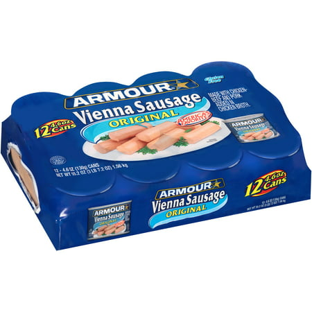 (12 Cans) Armour Original Vienna Sausage, 4.6 oz