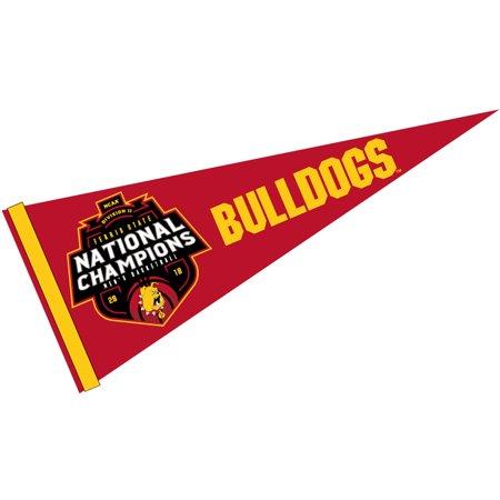 "Ferris State University Bulldogs Div 2 Mens Basketball 2018 Champions 12"" X 30"" Felt College Pennant"