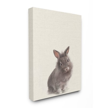 The Stupell Home Decor Collection Just A Cute Bunny XXL Stretched Canvas Wall Art, 30 x 1.5 x (Bunny Canvas Art)