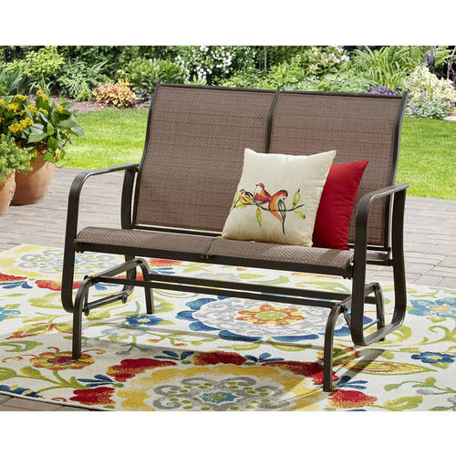 Mainstays Wesley Creek 2-Seat Outdoor Sling Seat Glider