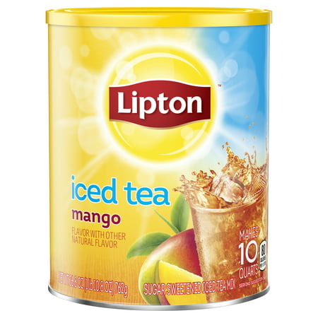 Mango Red Tea Tea - (6 Boxes) Lipton Mango Sweetened Iced Tea Mix, 10 qt