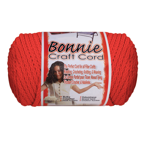 Bonnie Macrame Craft Cord - Coral - 6mm x 100 yards - Made in USA