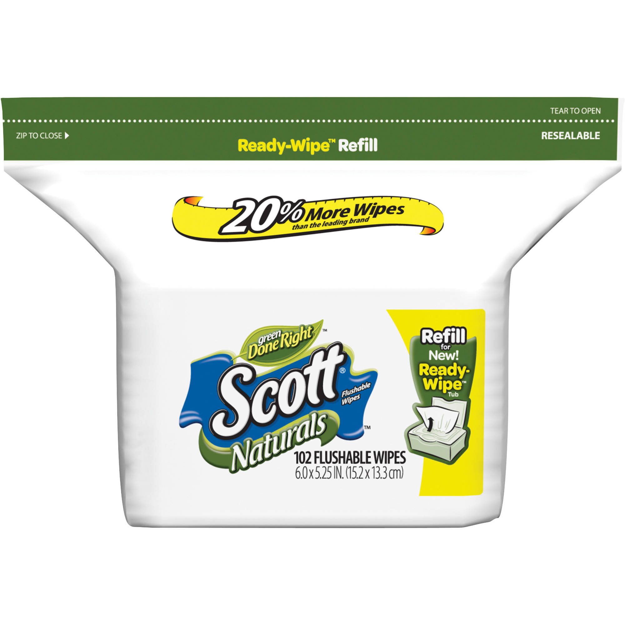 Scott Moist Wipes Refill, 102 ct