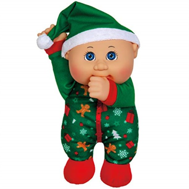 cabbage patch cuties ginger holiday 9 inch soft body baby doll