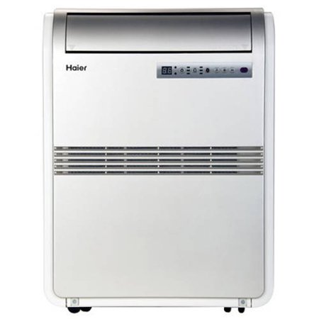 Haier Hrb08xcmtb 8 000 Btu Portable Air Conditioner 115V With Remote  Silver  Factory Reconditioned