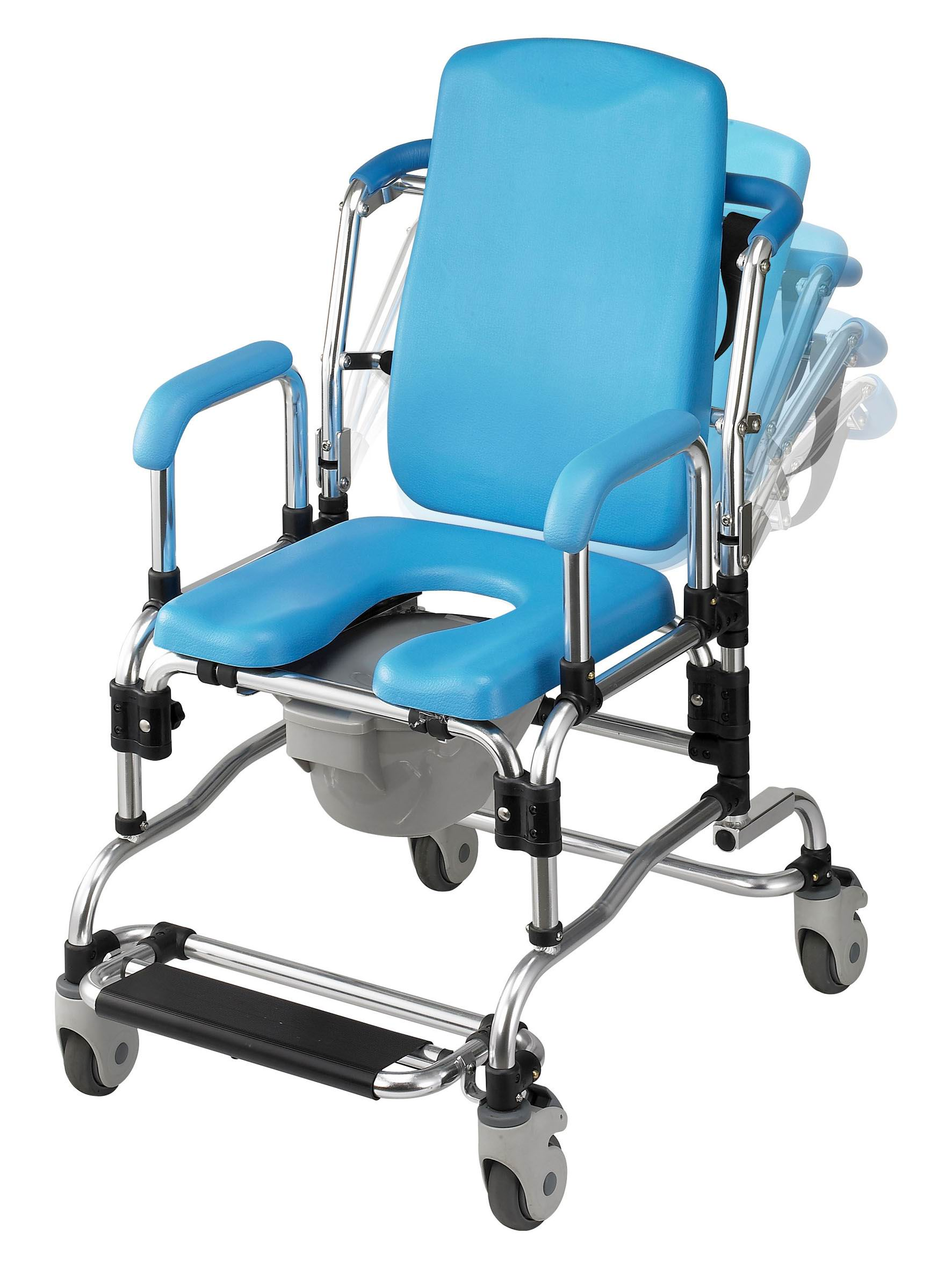 Laguna Professional Reclining Bath Shower Chair Institutional Quality  Padded Seat, Back, Armrests + FREE