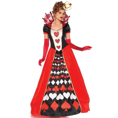 Leg Avenue Deluxe Queen of Hearts Adult Womens Costume