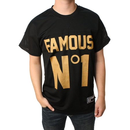 Famous Stars and Straps Mens First String Mesh Jersey, Black](Famous Stars And Straps Clearance)