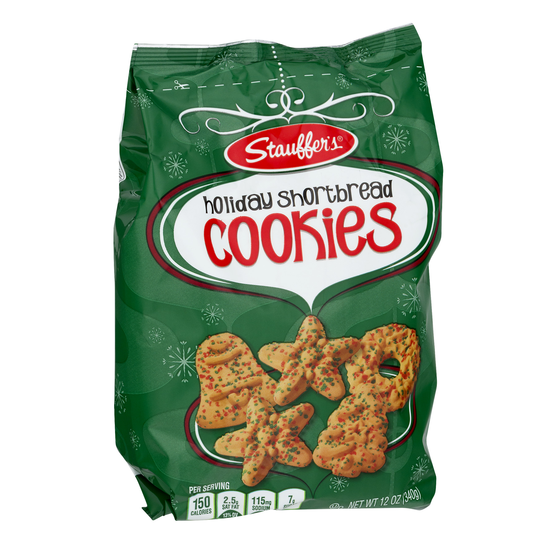 Stauffer S Holiday Shortbread Cookies 12 Oz Walmart Com