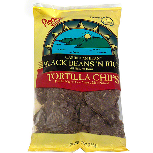 Placeholder Caribbean Bean Black Beans N Rice Tortilla Chips, 7 oz (Pack of 12)