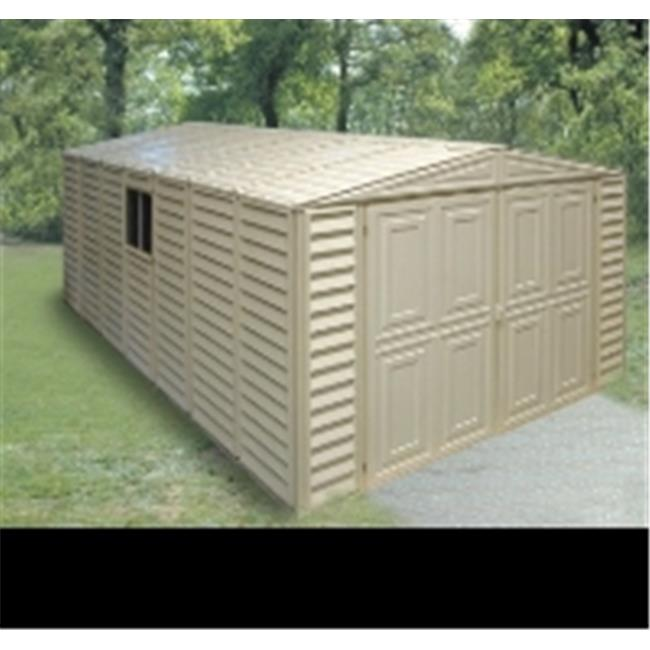 us polymers 01114 10 ft. x 18 ft. vinyl garage with foundation kit