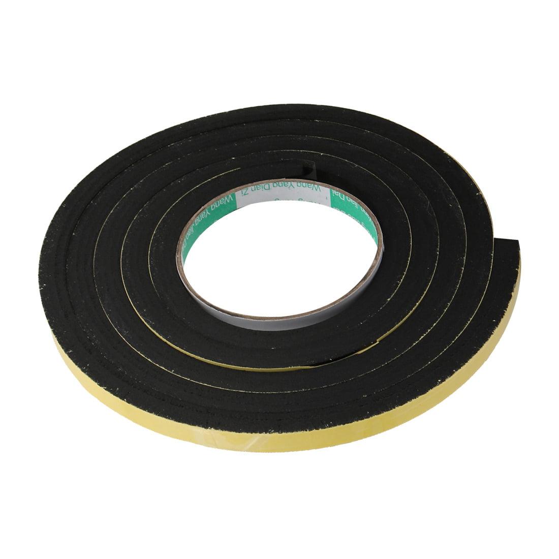 Unique Bargains 2pcs 10mm Wide 10mm Thick Single Sided Shockproof Sponge Tape Black 2M Long - image 2 de 4