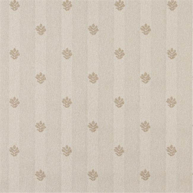 Designer Fabrics C605 54 in. Wide Khaki And Beige, Leaves Country Style Upholstery Fabric